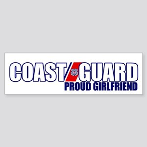 USCG Girlfriend Sticker (Bumper)